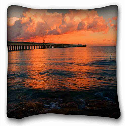 Generic Personalized ( Nature sea suns clouds images ) Rectangle Pillowcase 16x16 inches (one side) suitable for Twin-bed PC-White-9970