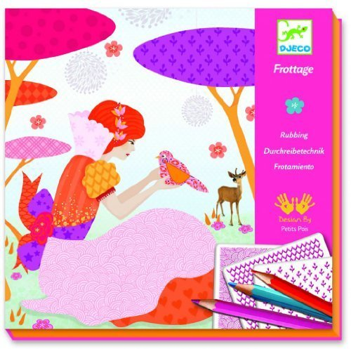 Djeco Art Kit All my Beautiful Dresses (rubbings) by Djeco (English Manual)