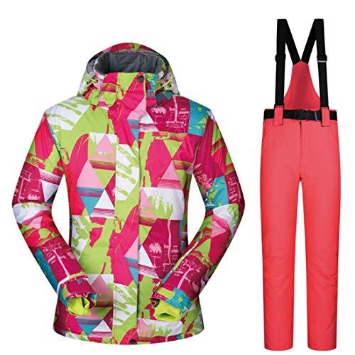 RABILTY Chaqueta de esquí de Snowboard Transpirable Impermeable para Mujer Debajo de la Capa Cero (Color : 07, Size : M)