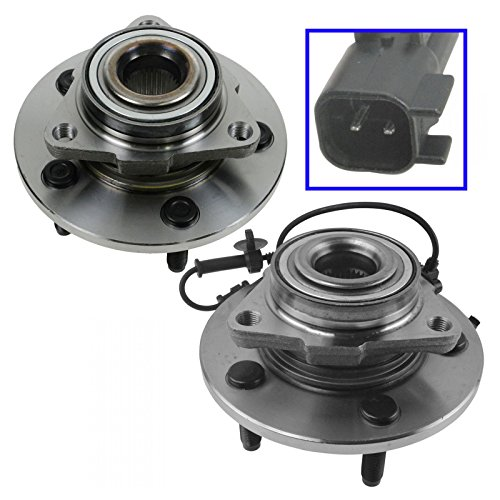 Front Wheel Hub & Bearing Set Pair for 06-08 Ram 1500 Truck