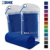 Best Cooling Headbands - Balhvit [2 Pack Instant Relief Cooling Towel, Ice Review
