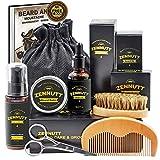 ZENNUTT Ultimate Beard Care Kit for Men w/Free Beard Conditioner & Beard Balm Butter & Beard Oil & 100% Boar Beard Brush & Wood Beard Comb & Beard/Mustache Scissors,Best Gift Set