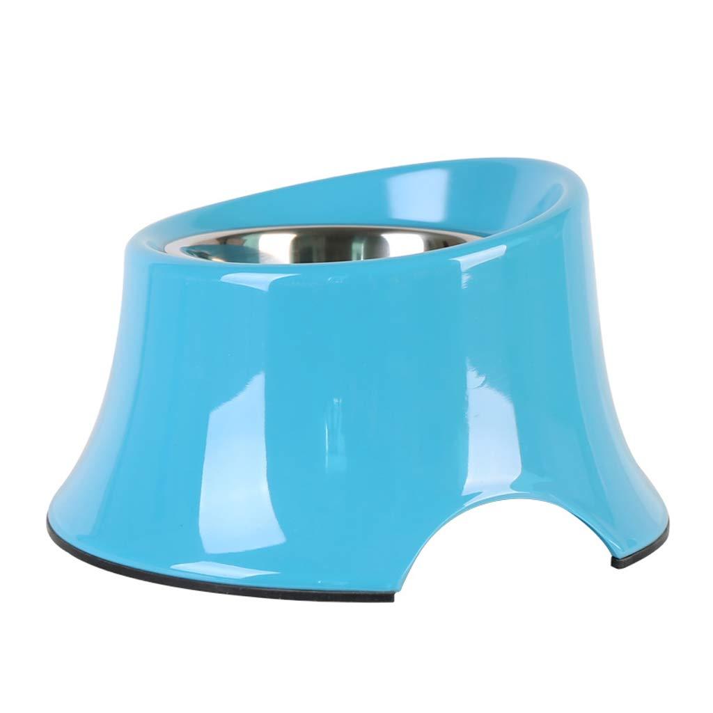 bluee M bluee M JIANXIN Dog Bowl, Dog Bowl, Large Slanting Bowl, Suitable for Pets (color   bluee, Size   M)