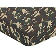 Sweet Jojo Designs Green Camo Fitted Crib Sheet for Baby and Toddler Bedding Sets - Camo Print