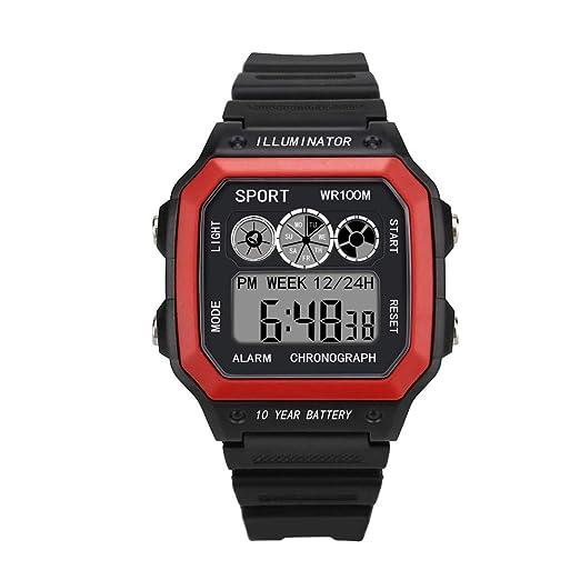 VEHOME Reloj electrónico LED de Gama Alta - Reloj Deportivo Resistente al Agua-Relojes relojero Inteligente Reloj reloje hombresRelojes de Pulsera Marcas ...