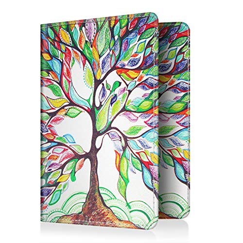 Fintie Passport Holder Travel Wallet RFID Blocking PU Leather Card Case Cover, Love Tree