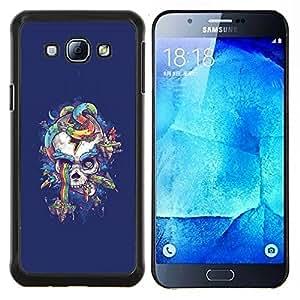 Jordan Colourful Shop - Abstract Snake Skull For Samsung Galaxy A8 A8000 Personalizado negro cubierta de la caja de pl????stico