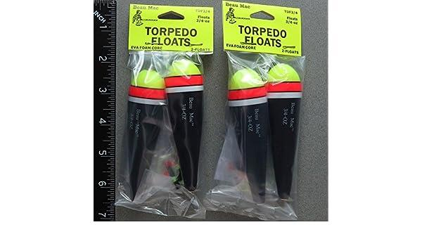 Dos paquetes Torpedo EVA espuma flotadores 3/4 oz: Amazon.es: Deportes y aire libre