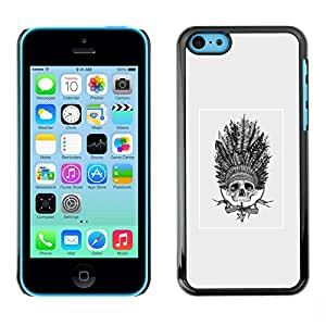 iPhone 5C , Native American Dream Catcher Skull - Cáscara Funda Case Caso De Plástico