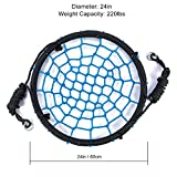 Tree Swing Spider Web - 24 Inch Diameter,220 lb Weight Capacity, Great for Playground, Tree, Outdoor Use Easy to Install and Non-Stop Fun for Kids
