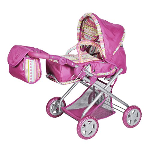 Knorrtoys 61838 - Puppenkombi Kyra - pink with stripe