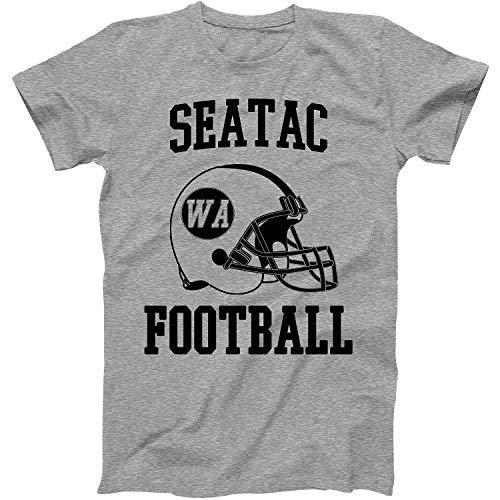 Vintage Football City SeaTac Shirt for State Washington with WA on Retro Helmet Style Grey Size Large]()