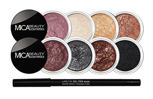 "Mica Beauty Mineral Eye Shadows Makeup Bundle:  ""Boudoir Rom"