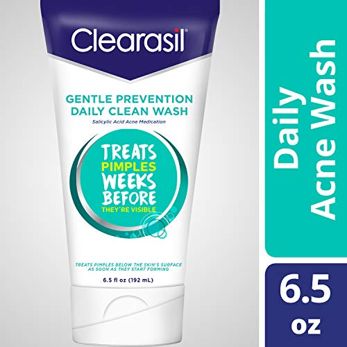 Clearasil Daily Clear Acne Face Wash, Hydra-Blast Oil-Free Face Wash, 6.5 Ounce ( Pack of 3) (Wash Clearasil Daily Ultra Face)