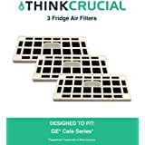 3 GE Fridge Odor Air Filter For Cafe Series, Fits CFE28TSHSS, CYE22TSHSS, CZS25TSESS & CNS23SSHSS, by Think Crucial