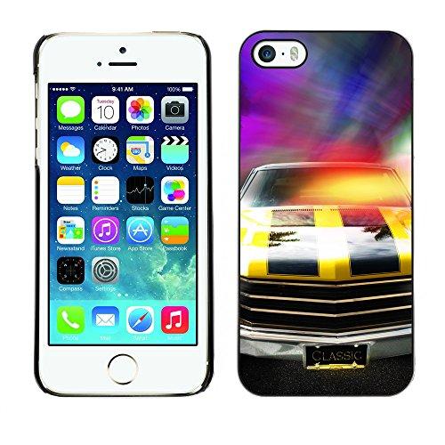 Hülle Case Schutzhülle Cover Premium Case // V00002591 Rennautos // Apple iPhone 5 5S 5G