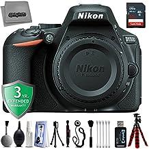 "Nikon D5500 24.2MP 1080P DSLR Camera w/ 3.2"" LCD - Wi-Fi & GPS Ready - 5 fsp - Built-in Flash + 12PC Starter Kit + 3YR Warranty"
