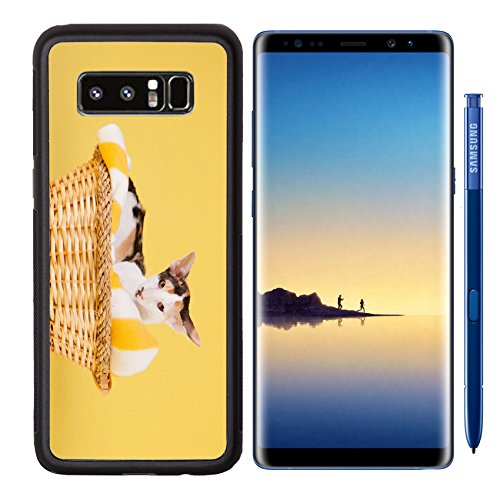 MSD Premium Samsung Galaxy Note8 Aluminum Backplate Bumper Snap Case Oriental Shorthair cat in basket on yellow background Image 37272865 Customized Tablemats Stain Resistance Collector Kit Kitchen Ta