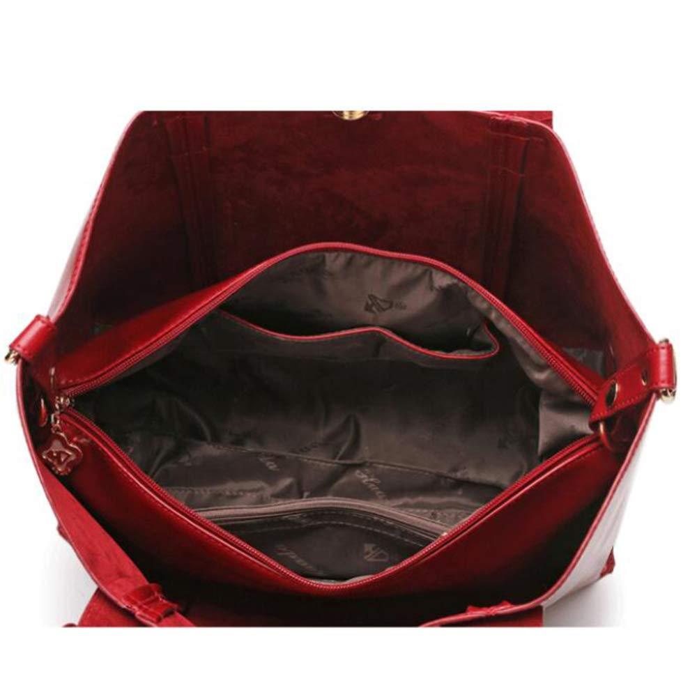 damen Soft Leder Handtaschen Grosser Kapazität Retro Vintage Top-Griff Top-Griff Top-Griff Lässige Shopper Taschen (36  26  14CM) rot B07KZDX4MP Henkeltaschen Zuverlässige Qualität 80c831