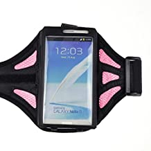 Black/Pink Fabric Plastic Transparency Window Running Sport cover GYM Adjustable Net Armband Case pouch For Samsung Galaxy S4 i9500/Samsung Galaxy S3 III i9300/Samsung galaxy note 2 N7100/Samsung galaxy note GT-N7000 I9220