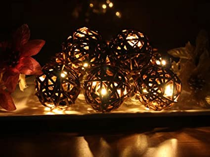 battery operated warm white led string lights with willow ball christmas lights party lights