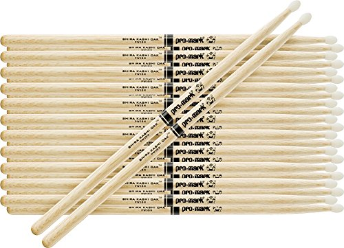 White Oak Japanese Nylon Drumsticks - PROMARK 12-Pair Japanese White Oak Drumsticks Nylon 5A