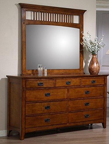 (Sunset Trading SS-TR750-DR_MR Tremont Bedroom Dresser Mirror Set, Warm Chestnut)