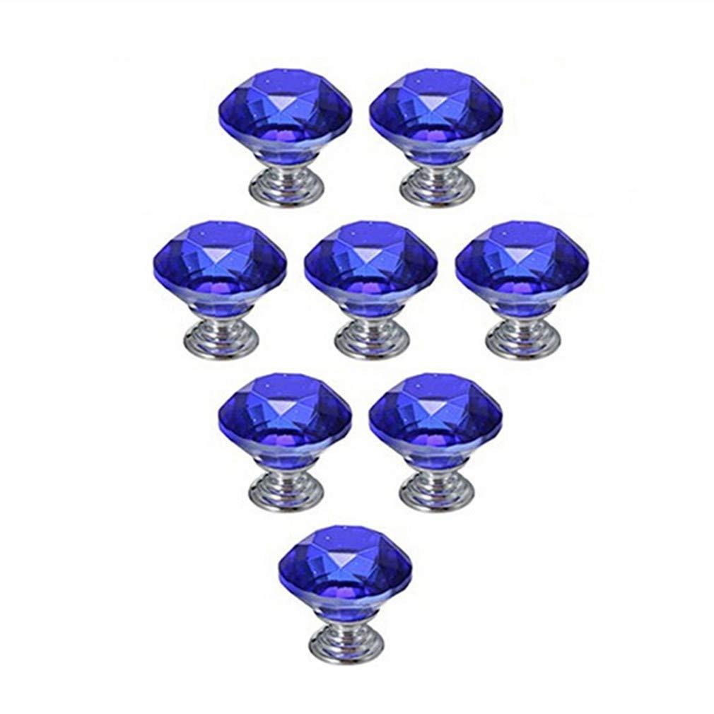 Tiradores de caj/ón de 30 mm Armario y Armario por TheBigThumb Desconocido 6 Piezas de perillas de gabinete de Cristal de Color Rosa Armario de ba/ño perillas de Muebles de Diamante para Cocina