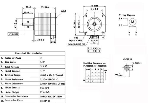Nema 17 Stepper Motor Wiring Diagram Somurich