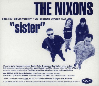 """Electriccircusradio on twitter: """"#nowplaying sister by the nixons."""
