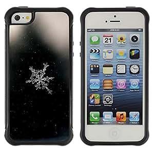 Híbridos estuche rígido plástico de protección con soporte para el Apple iPhone 5 / 5S - space black snowflake black