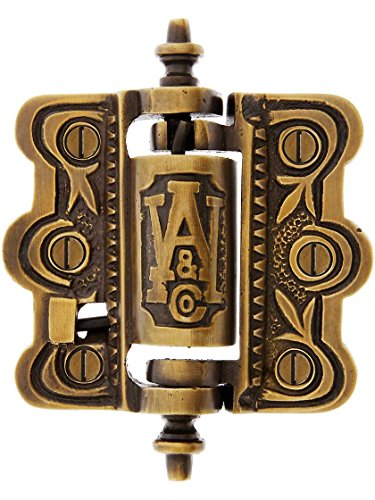 Acorn Finial Classic (House of Antique Hardware R-06SE-0700477-ABH Decorative Cast Brass Screen Door Hinge in Antique-By-Hand)