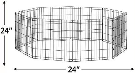 "New World Pet Products B550-24, corralito para mascotas, negro, pequeño / 24 ""x 24"" 4"
