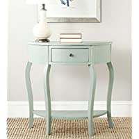 Safavieh American Homes Collection Jan Dusty Green Demilune Console Table