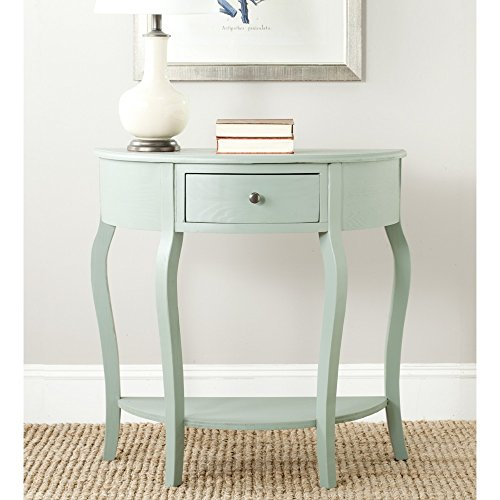 Safavieh AMH6569B American Homes Collection Jan Demilune Console Table, Dusty Green from Safavieh