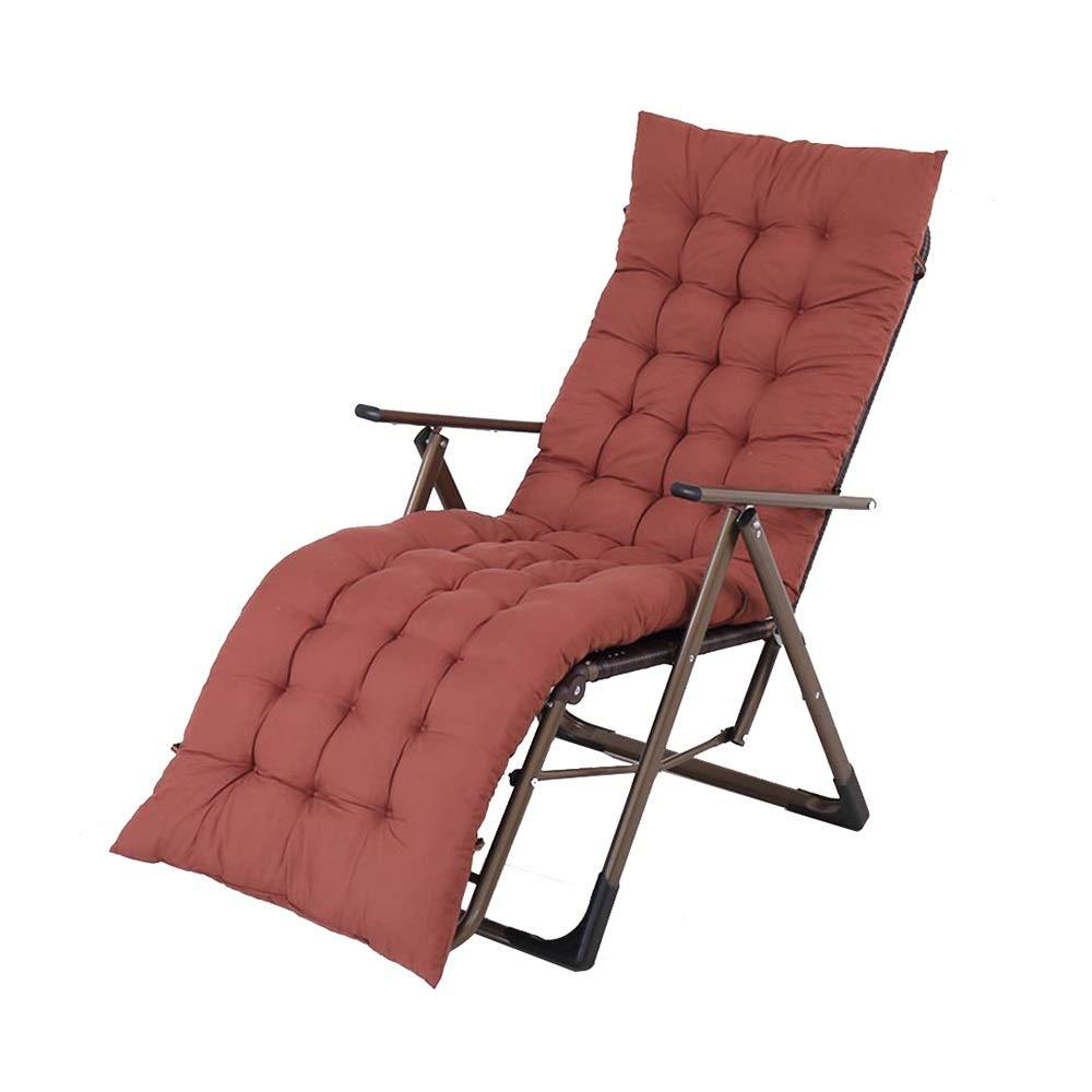C 92x58x12cm HPLL Folding Reclining Chair, Portable Recliner Folding Backrest Multifunctional Nap Chair Beach Home Chair Single Lazy Chair 9-Speed Adjustment Kitchen Folding Chair (color   B, Size   92x58x12cm)