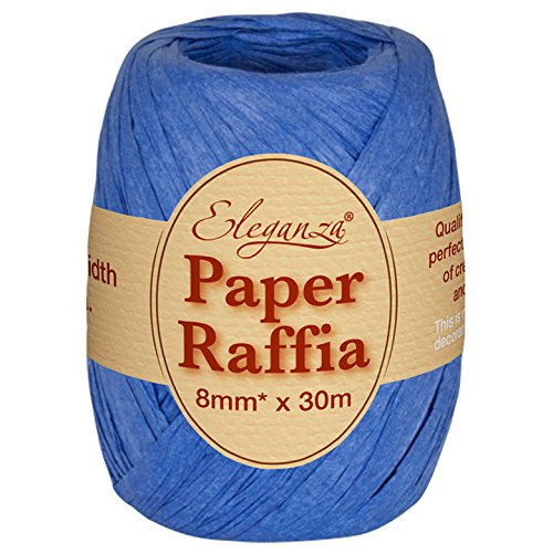 Eleganza 8 mm x 30 m Paper Raffia for Variety of Craft Projects and Gift Wrapping, No.18 Royal Blue Oaktree UK 630079