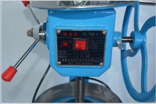 Huanyu ¡Manual/Eléctrico Máquina de hielo máquina de hielo nieve hielo picadora manual de hielo Shaver cono de nieve eléctrica 220 V: Amazon.es: Hogar