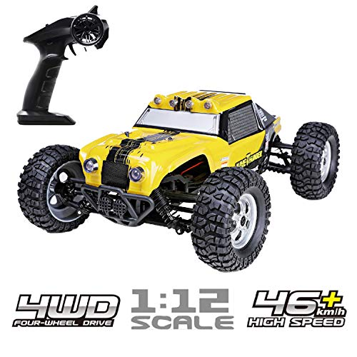 HAIBOXING 1/12 Scale 4WD Waterproof RC Car,12891 4X4 Remote Control Off-Road Monster Truck, 2.4G 25+ MPH High Speed Electric Buggy with LED -