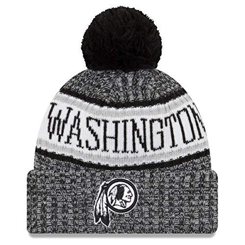 哲学博士閉じ込める海嶺ニューエラ (New Era) NFL サイドライン 2018 ボブル ビーニー帽 ワシントン?レッドスキンズ (Washington Redskins)