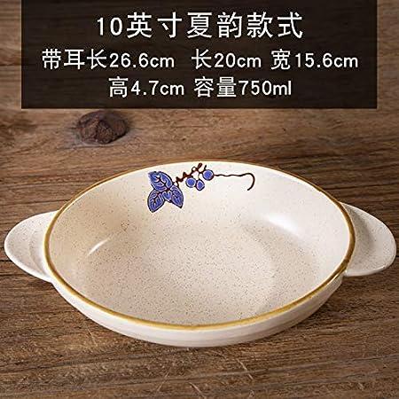 Bandeja de horno de cerámica binaural para arroz, horno de queso ...
