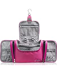 """XXL Toiletry Bag for Women """"MAXI"""" with Hanging Hook - Large Wash Bag - Many Pockets - Travel Set, Travel Toiletry Kit Cosmetics Makeup Big Toilet Organizer Suitcase Luggage"""