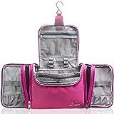 TRAVANDO XXL Toiletry Bag for Women ''MAXI'' with Hanging Hook - Large Wash Bag - Many Pockets - Travel Set, Travel Toiletry Kit Cosmetics Makeup Big Toilet Organizer Suitcase Luggage