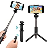 Mpow Bluetooth Selfie Stick and Tripod, Bluetooth iPhone Selfie Stick with Foldable Tripod Stand and Remote Control for iPhone 8/8 Plus/7/7 Plus/Galaxy S8 /S8 Plus/Google Pixel, Portable Selfie Stick with Extendable 360¡ã Rotation Phone Holder