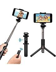 Mpow Perche Selfie Trépied Bluetooth avec Télécommande 360° Selfie Stick 2 en 1 Monopode Extensible pour iPhoneX/8 plus/7/6s/SE, Galaxy Series,OnePlus 6/5t, Huawei, Smartphone Android