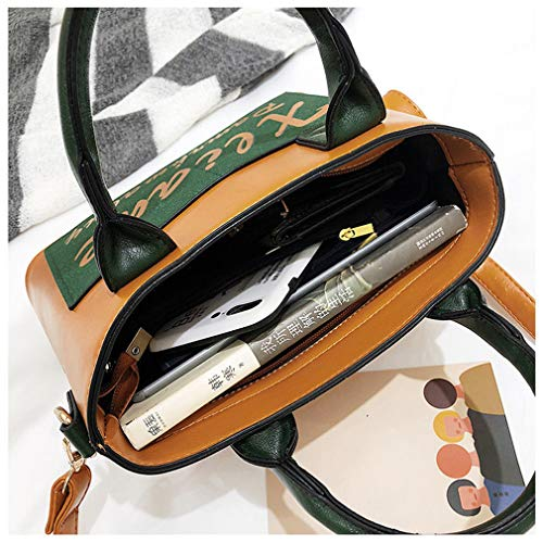 Brown Bag Brown 26cm Messenger 11cm Handbags Women 17cm PU Leather TnzaFxOq