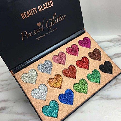 Beauty Glazed New Glitter Bold Glitter Shinning Heart Shape