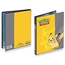 Pokemon Pikachu Binder Ultra Pro 4 pocket Portfolio Includes Pages