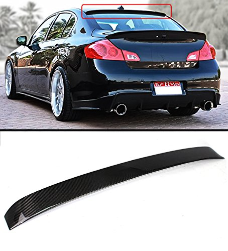 Cuztom Tuning Fits for 2007-2015 Infiniti G35 G37 Q40 4 Door Sedan Carbon Fiber JDM VIP Rear Window Roof Spoiler Wing