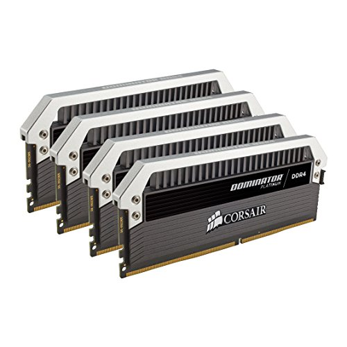 CORSAIR DOMINATOR PLATINUM 64GB (4x16GB) DDR4 3200MHz C16 Desktop Memory - CMD64GX4M4C3200C16